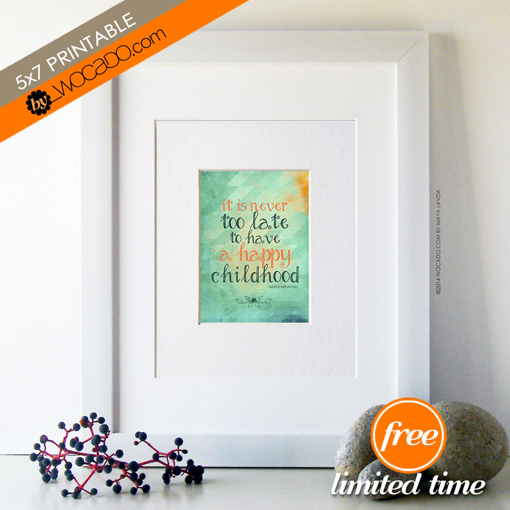 It is never too late - 5x7 PRINTABLE