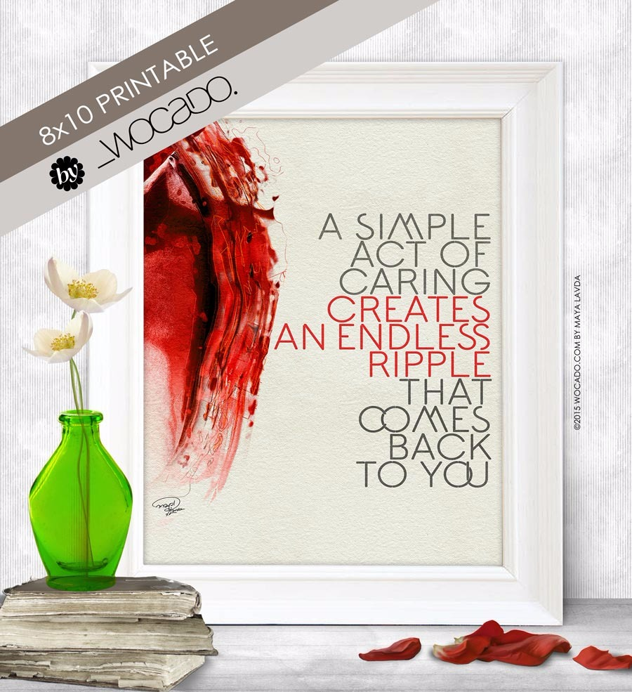 A Simple Act Of Caring - 8x10 Printable by WOCADO