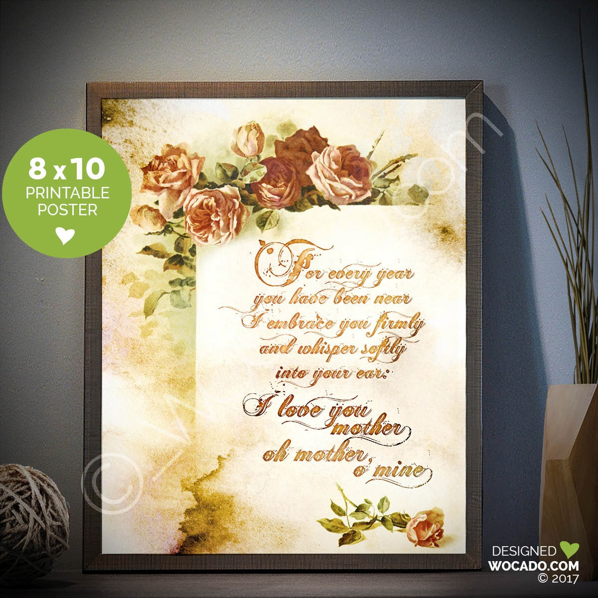 Oh Mother O' Mine - 8x10 Printable by WOCADO