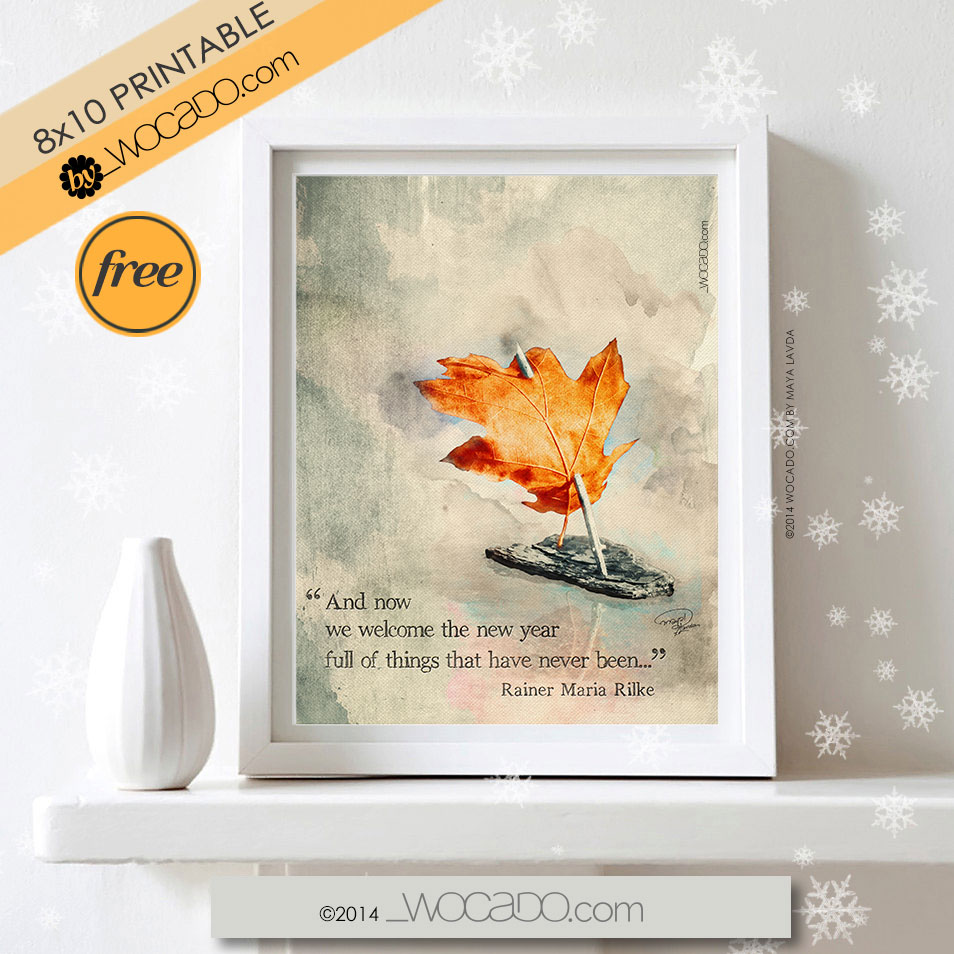We Welcome The New Year - 8x10 PRINTABLE