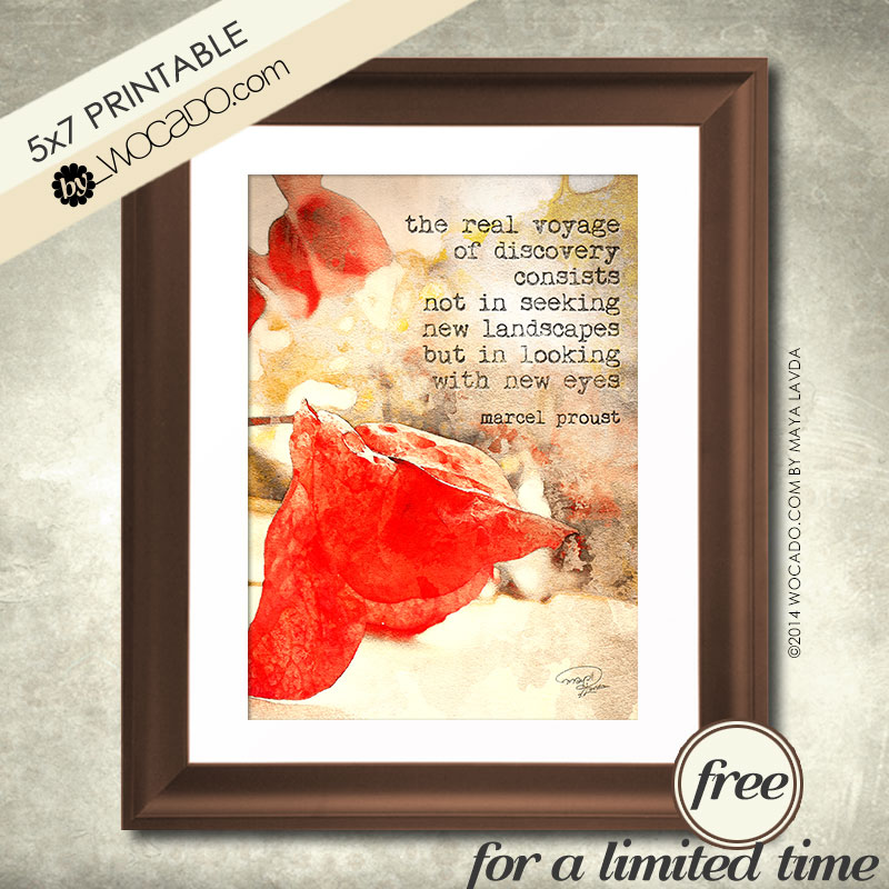 The real voyage of discovery - 5x7 PRINTABLE
