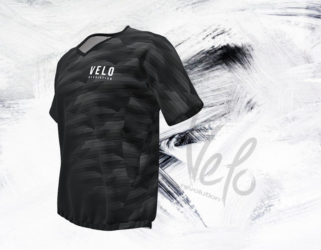 VELO BLACK FADE - AIR DRY Technical Tee