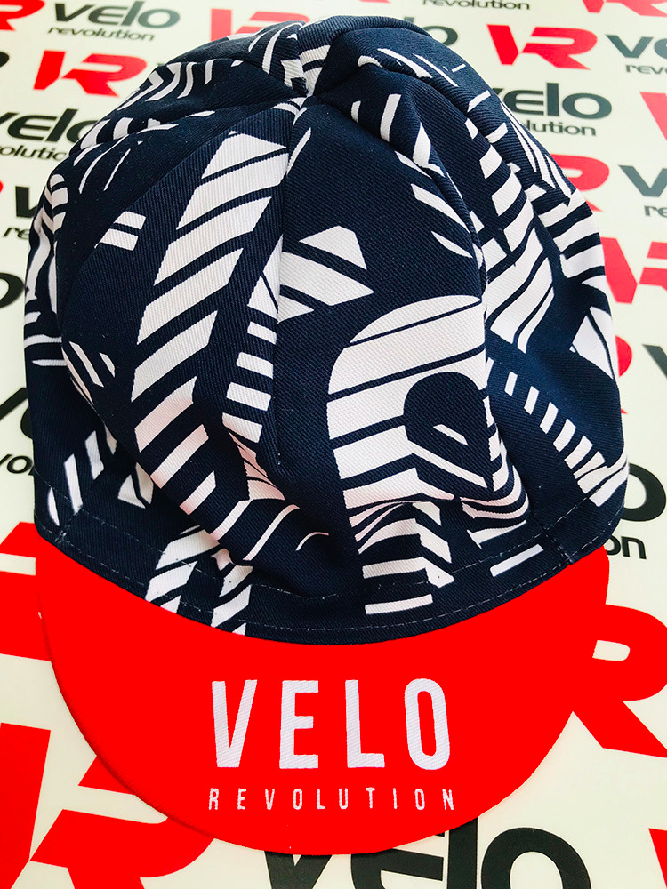 Cycling Caps Navy with White Velo
