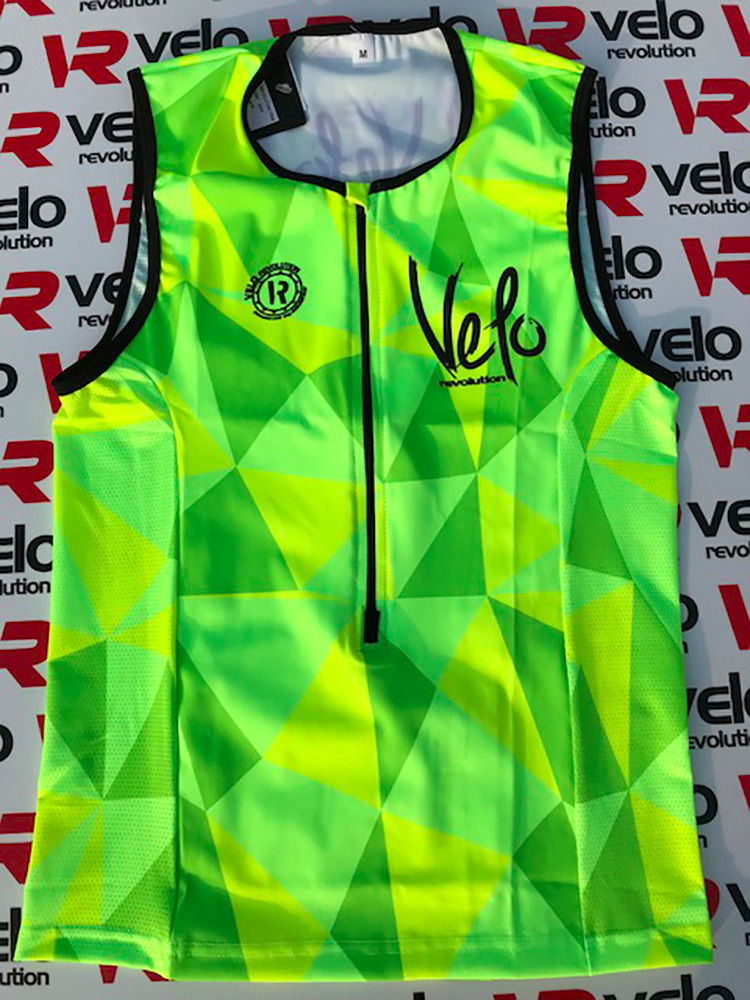 Elite Aero Triathlon Top - Fluo Yellow & Neon Green