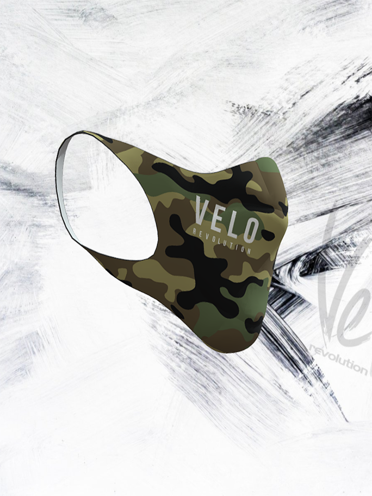 VeloRevolution Face Mask/Barrier (with filter) CAMO