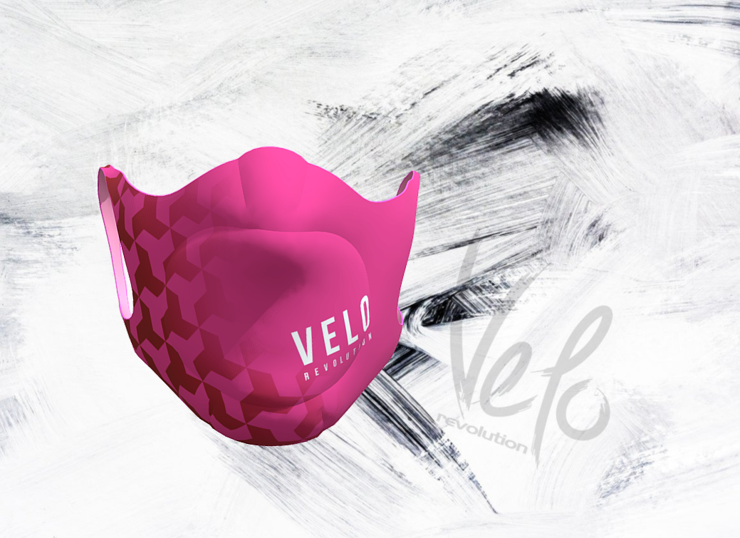 VELO Face Mask/Barrier (with 2 Filters) PINK VELO