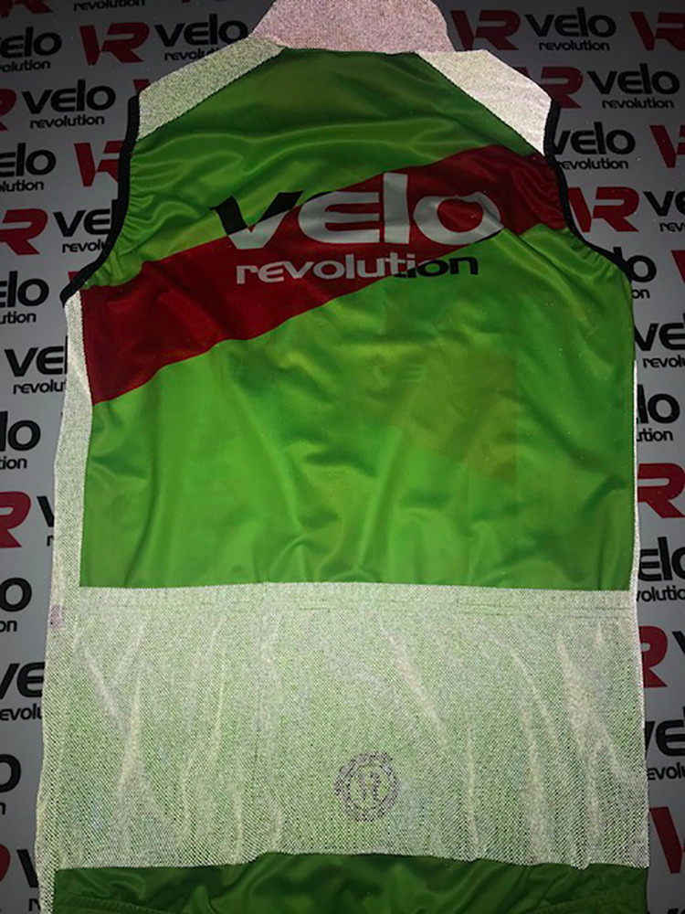 Gilet REFLECTIVE LUNAR - Neon Green + Red Stripe