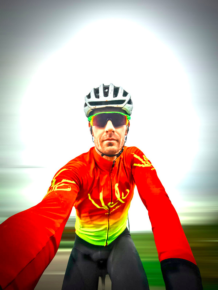 Hydra v4 Jacket RED with VIBRANT Yellow