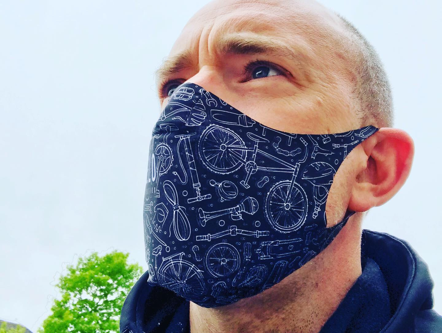 VeloRevolution Face Mask/Barrier (with filter) The Cyclist