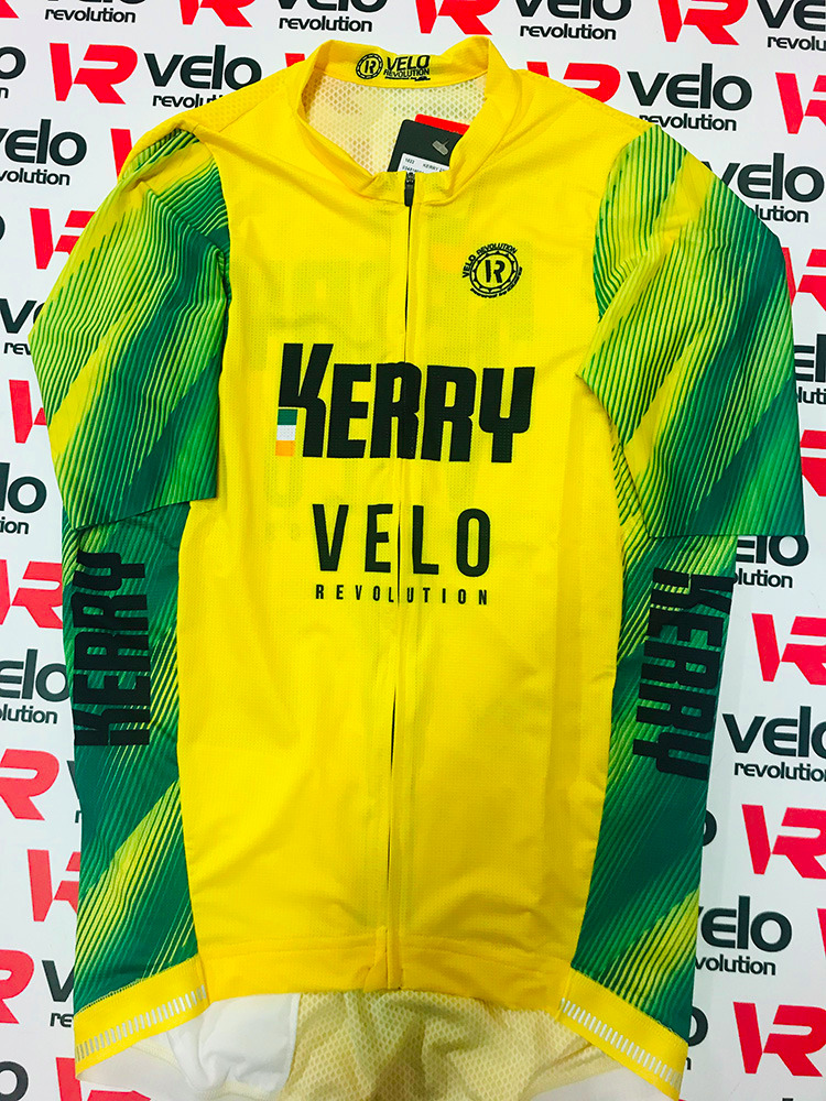 Short Sleeve Jersey Pro THE VELO KERRY KIT with Red Tailored Sleeves - Copy
