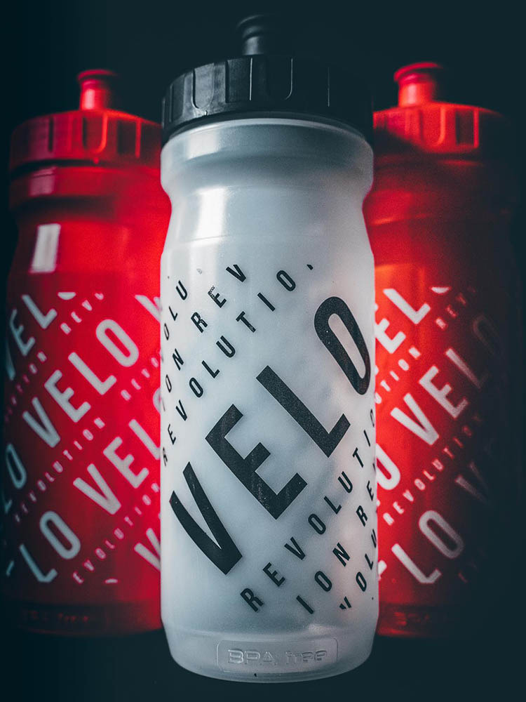 Pro Team Cycling Water Bottles - CLEAR 2020 VELO 600ml