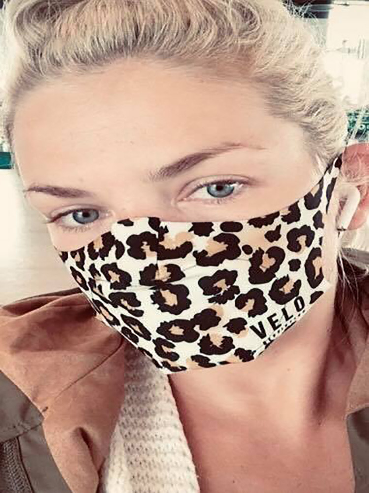 VELO Face Mask/Barrier (with 2 Filters) LEOPARD