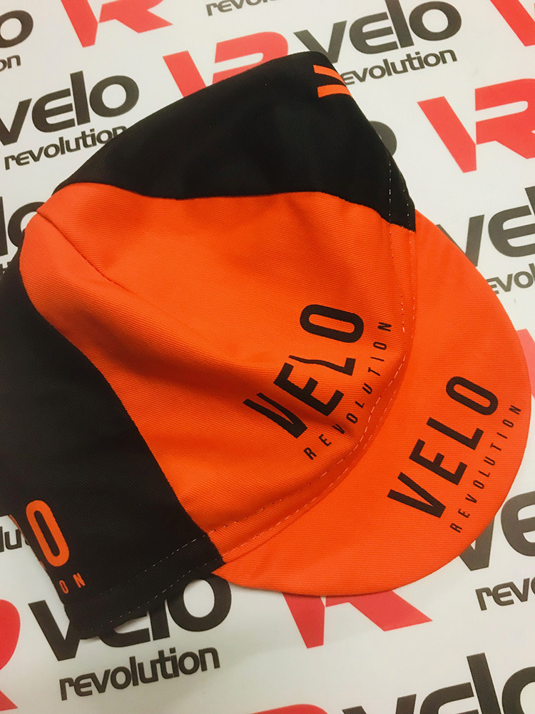 Cycling Caps - Black & Orange VELO