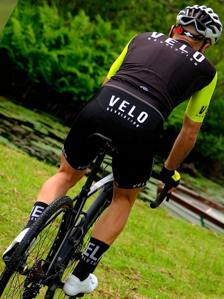 Short Sleeve Jersey PRO BLACK with VIBRANT Yellow Tailored Sleeves