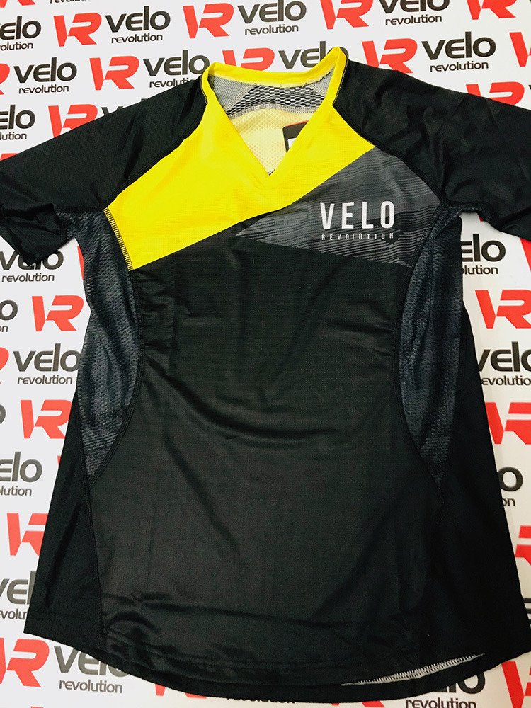 VELO BLACK & YELLOW FADE - FEMALE AIR DRY Technical Tee