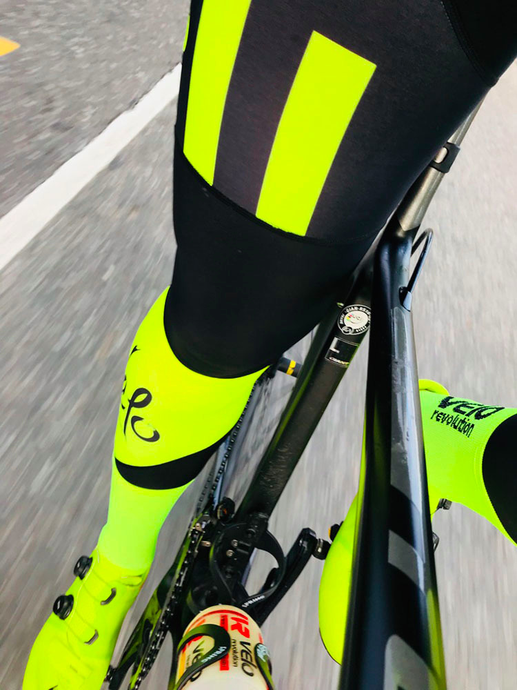 Bib Tights AllDay Roubaix with Yellow Panels (Limited Sizes)