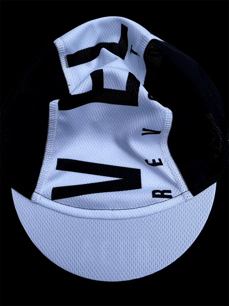 Cycling Cap Featherweight BLACK w/White