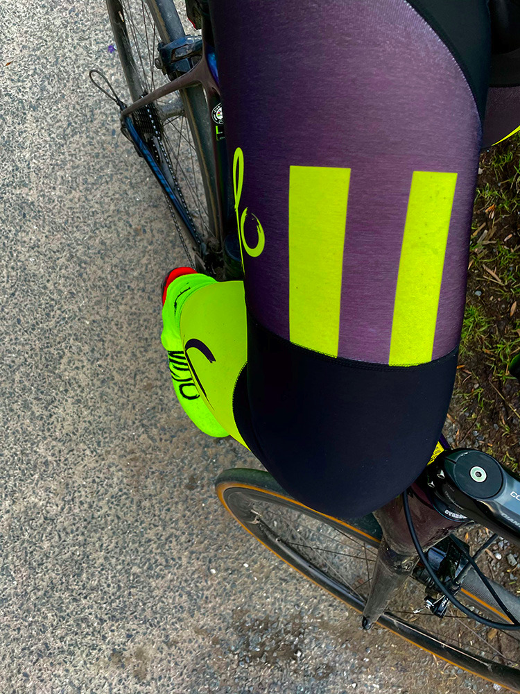 Bib Tights SUPER ROUBAIX with FLUO YELLOW VIS Panel (XS + SMALL FEMALE PADS)