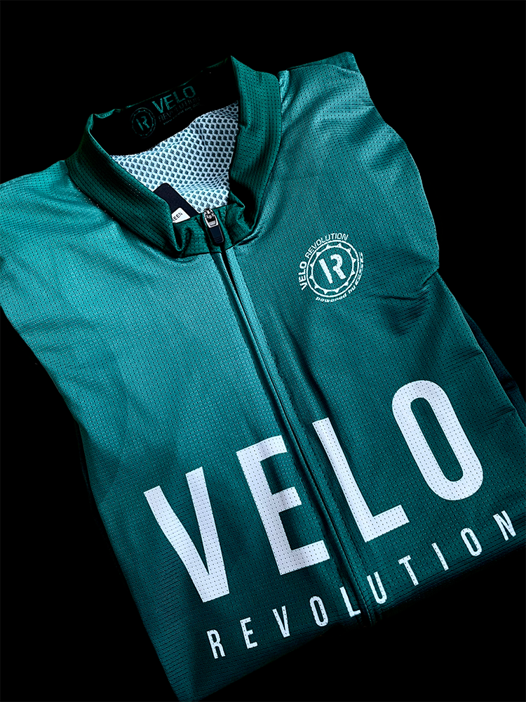 Short Sleeve Jersey PRO EMERALD GREEN with BLACK Tailored Sleeves