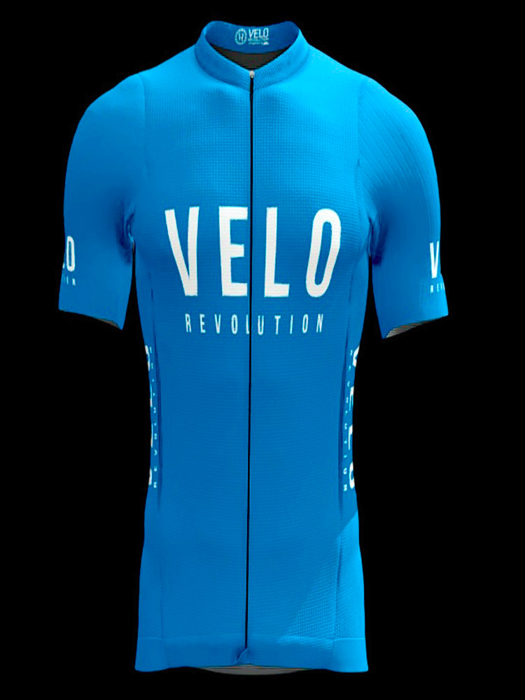 Short Sleeve Jersey PRO SKY BLUE with Tailored Sleeve