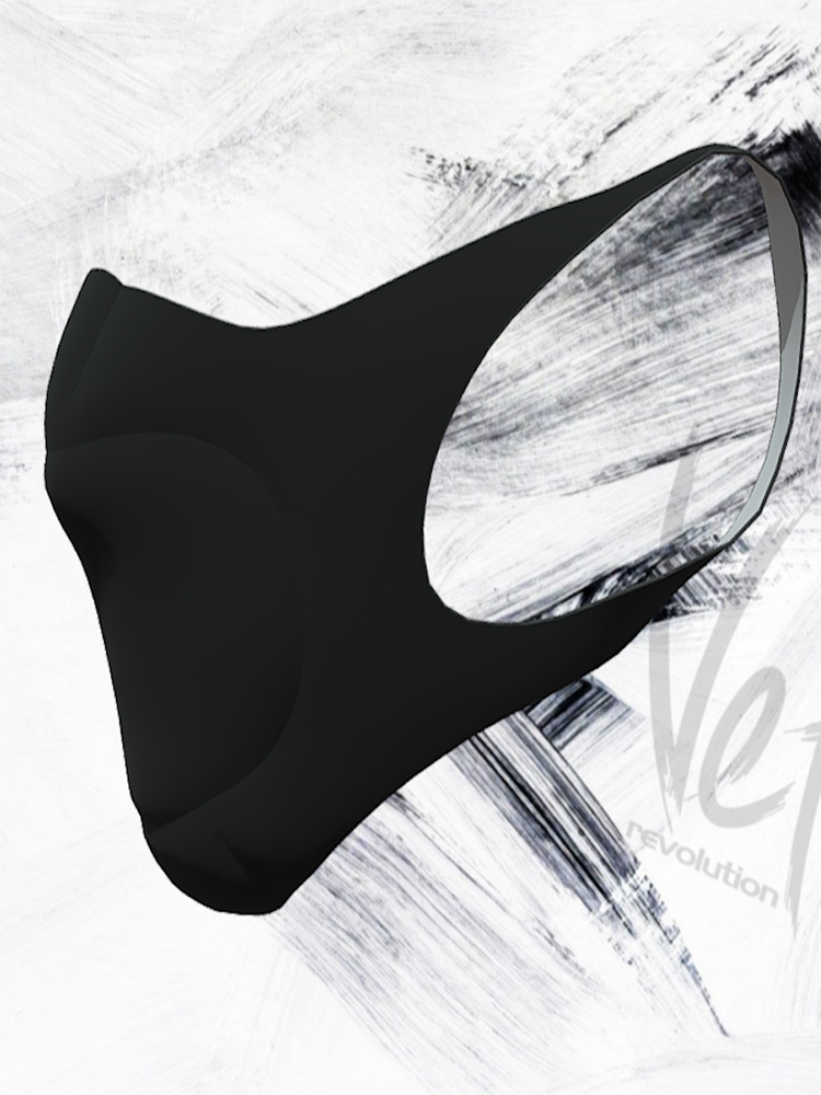 VeloRevolution Face Mask/Barrier (with filter) BLACK OUTS, ALL BLACK