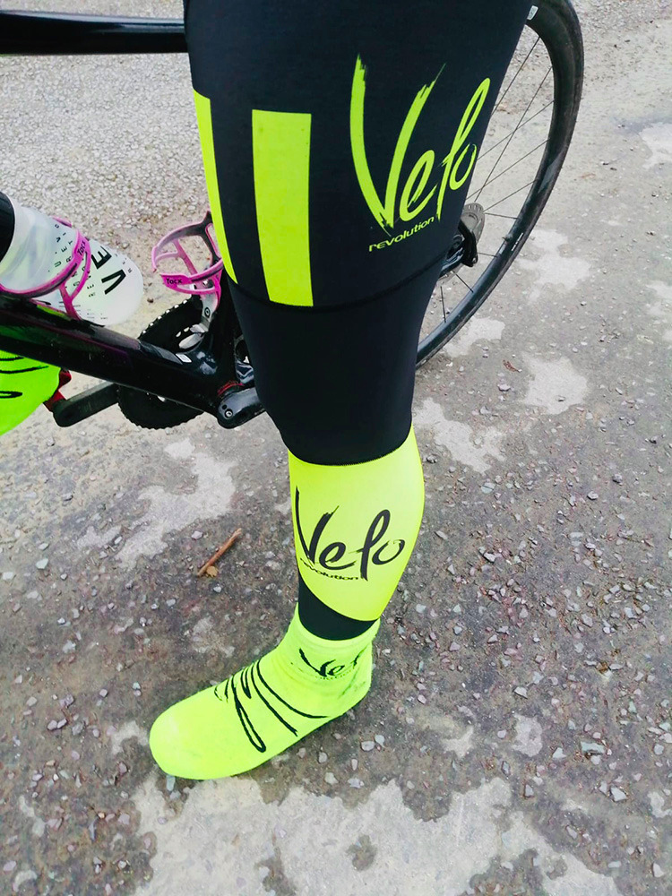 BibTights AllDay Roubaix Black with Fluo Yellow Panels