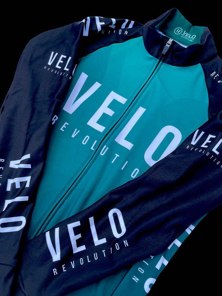 LONG SLEEVE CORE THERMAL JERSEY EMERALD GREEN