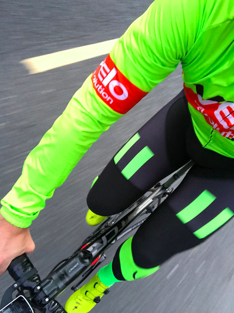 Bib Tights AllDay Roubaix with Neon Panels ( 1 XS Left)