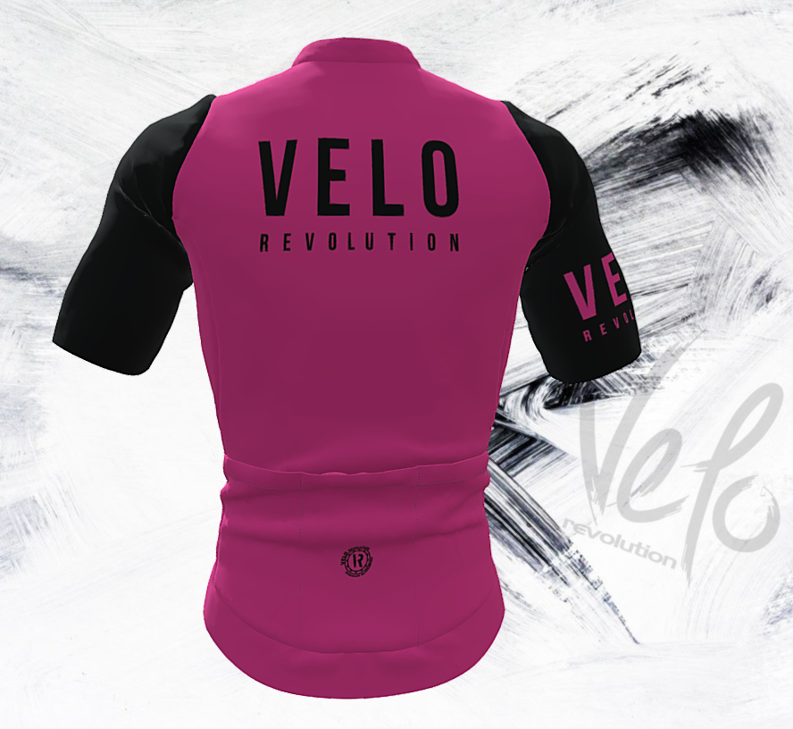 Short Sleeve Jersey Pro Neon Pink with Black Tailored Sleeves