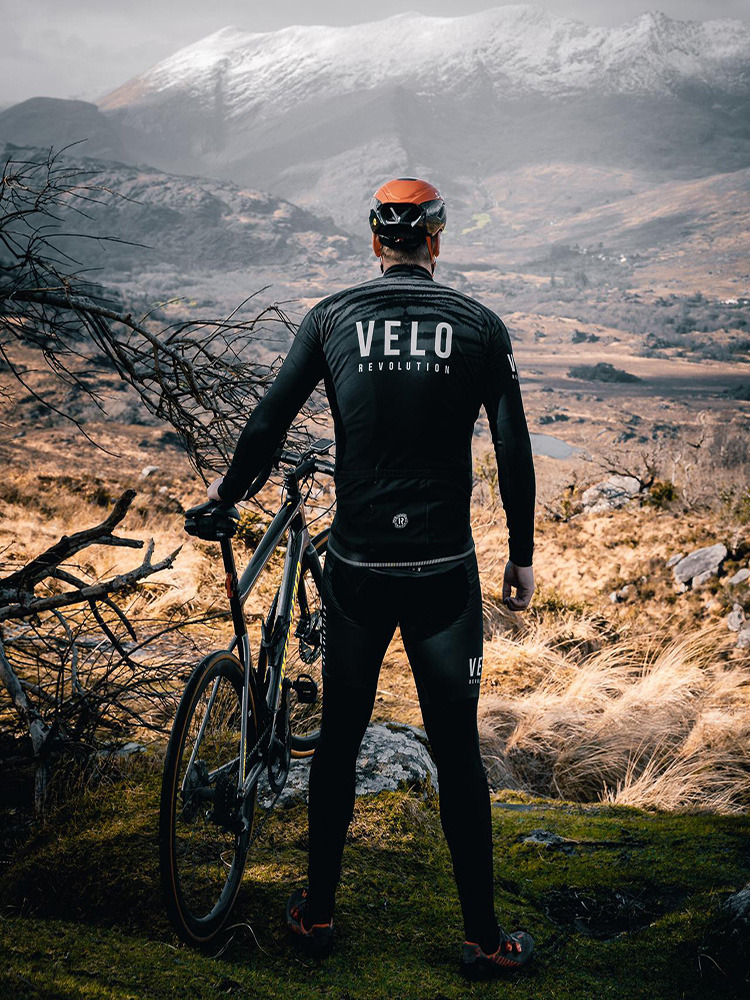 Long Sleeve Thermal Jersey Black Tiger (XS only available)