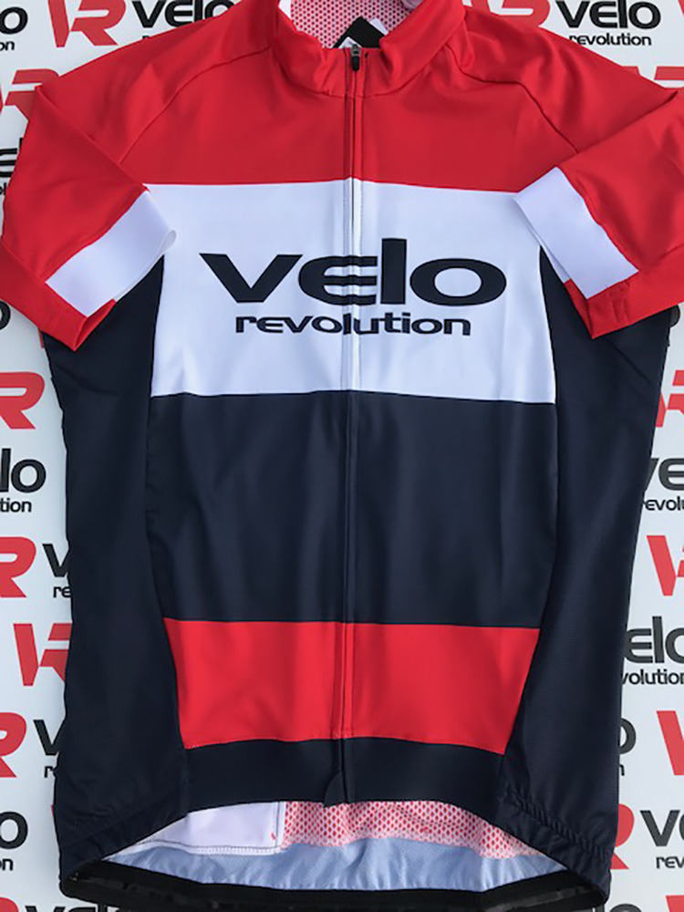 Short Sleeve Jersey All Rounder Multi STRIPES Red, White w/Navy
