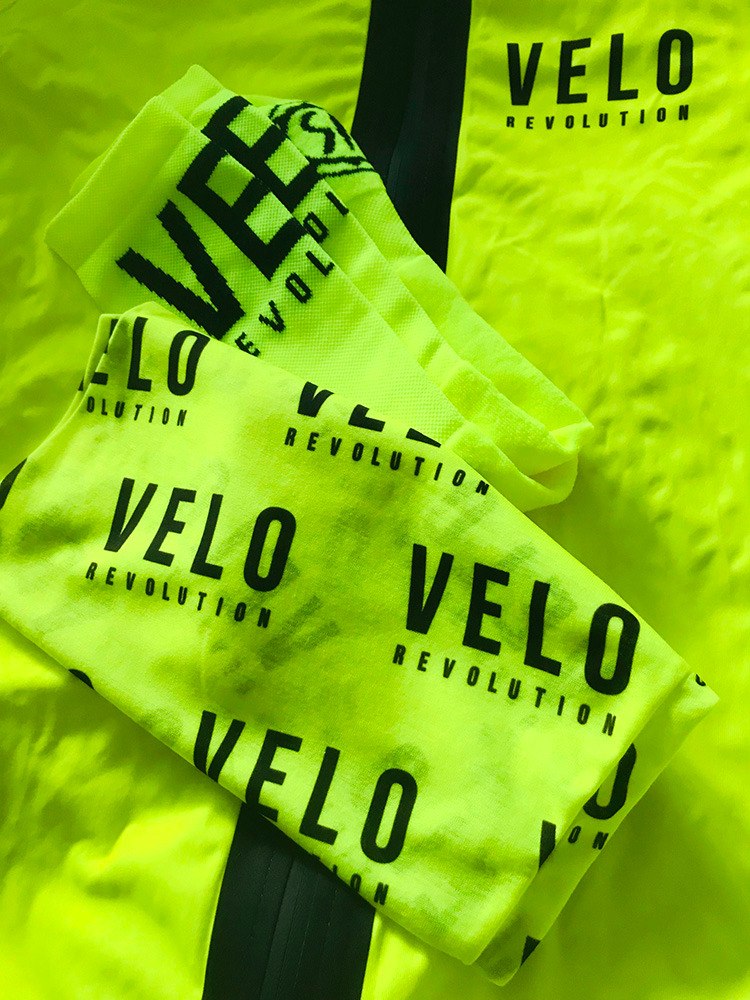 Buff Neck Warmer YELLOW Bright VELO LITE