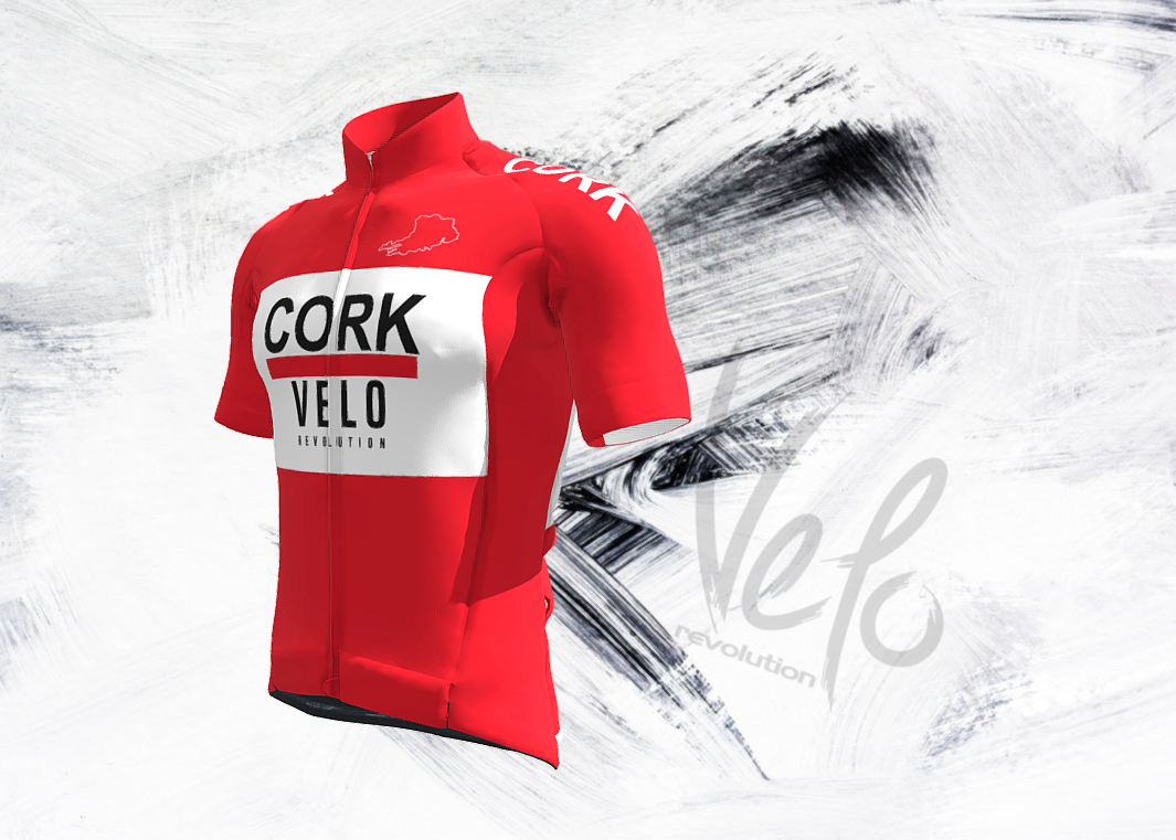 Short Sleeve Jersey Pro THE VELO CORK KIT with Red Tailored Sleeves