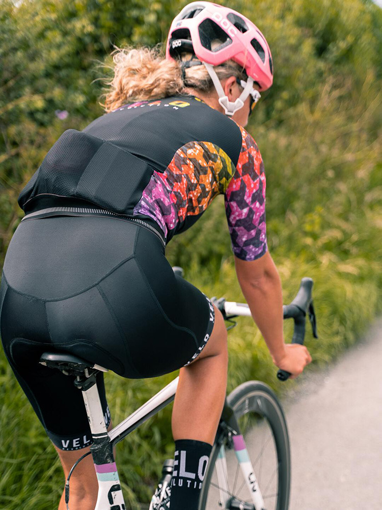 Bib Shorts Pro Velo BLACKOUTS II (Female Black Zenith Pad)