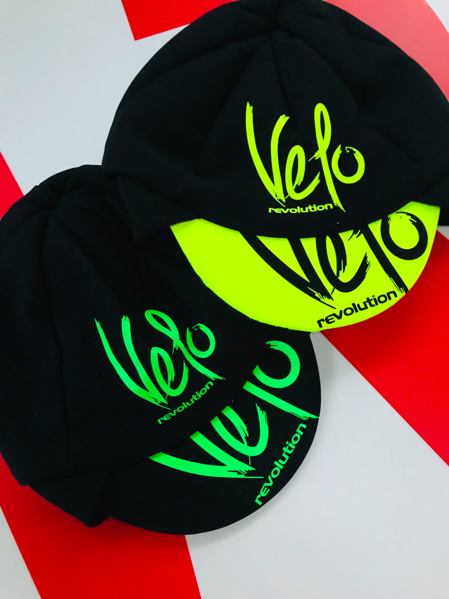 Winter Hat Pro Team Style - Black with Neon Green Logo
