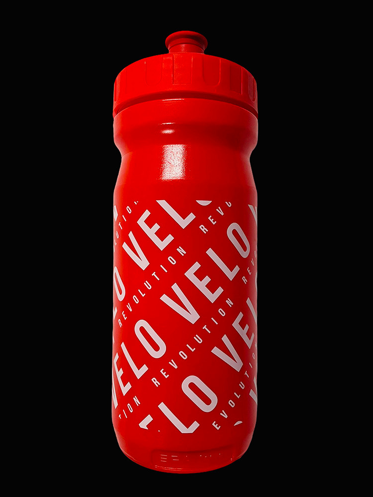 Pro Team Cycling Water Bottles - RED VELO 600ml