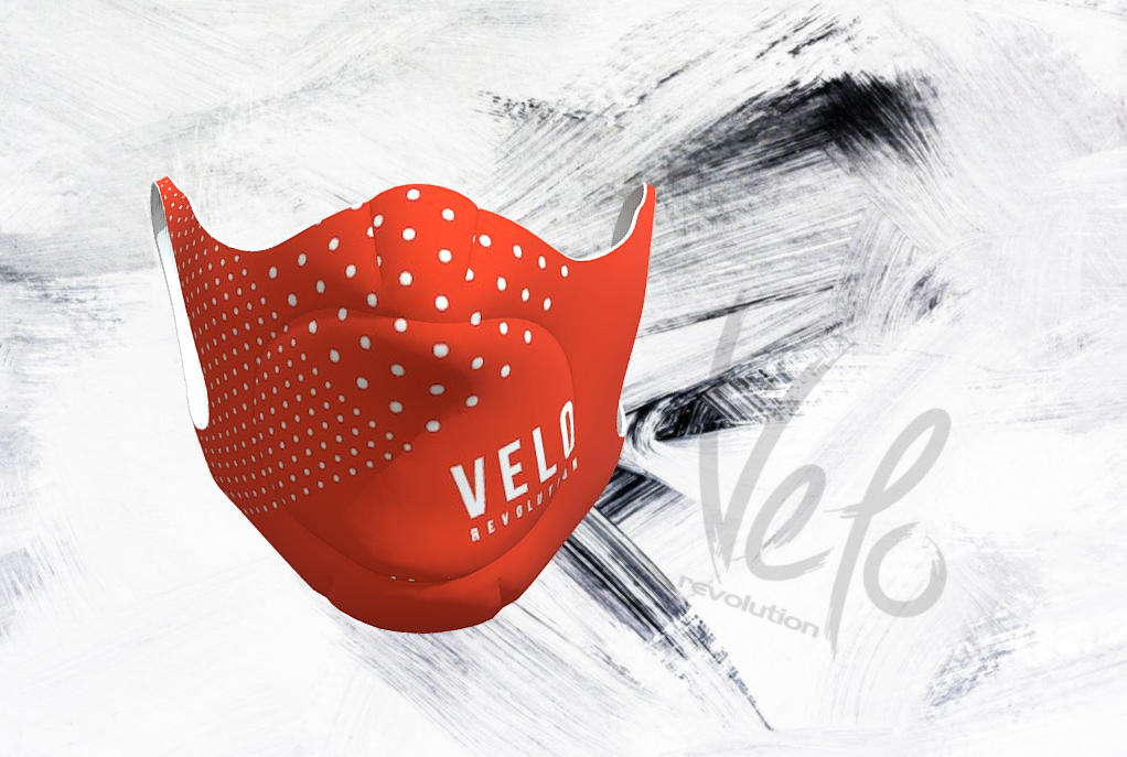 VELO Face Mask/Barrier (with 2 Filters) TIGER ORANGE