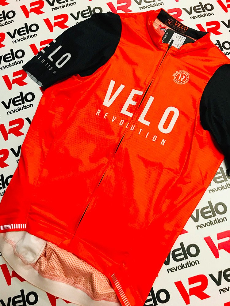 Short Sleeve Jersey Pro Tiger Orange with Black Tailored Sleeves