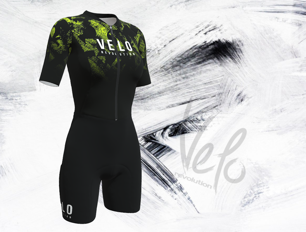 SPEEDCHEAT Pure Speed Aero Speedsuit Female -  Black & Splash
