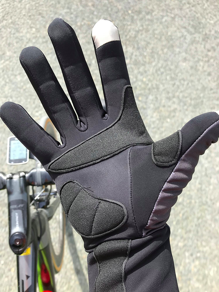 Gloves Wind Chill Winter/Spring - Black with Fluo Velo (Low Stock)