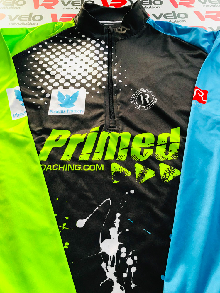 Primed Coaching - Running Long Sleeve 1/4 Front Zip