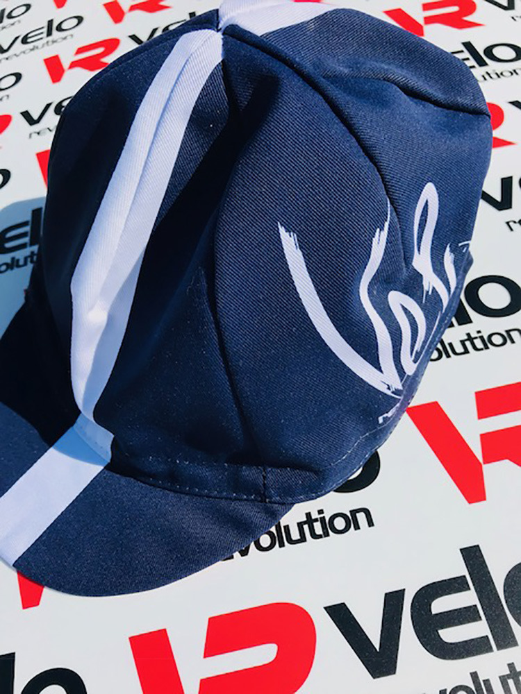 Cycling Caps Navy with White Stripe