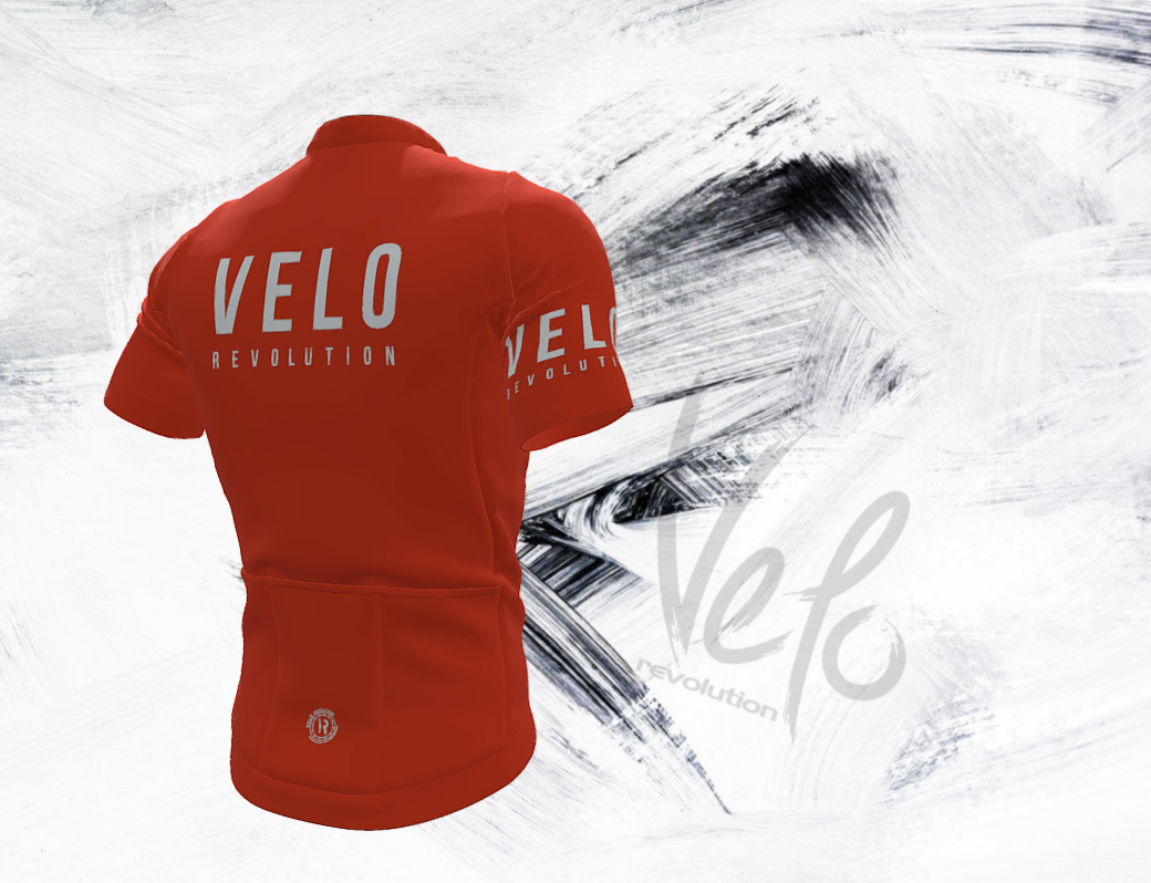 Short Sleeve Jersey Pro Tiger Orange with Tailored Sleeves