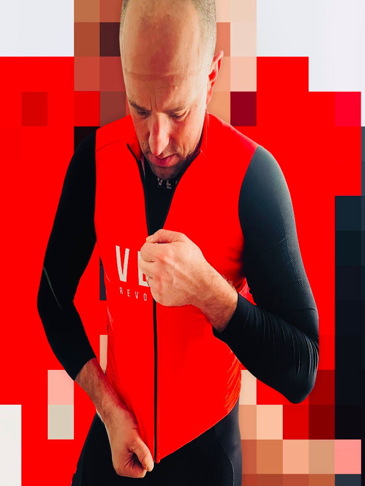 Gilet VEST Thermal Warm - RED (with pockets)