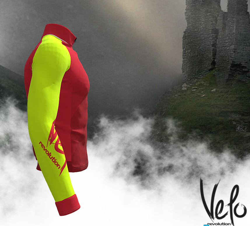 ICE WINTER THERMAL JACKET - RED w/VIBRANT Yellow (XXL Available)