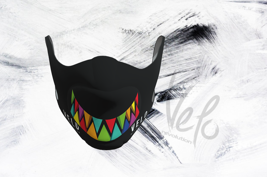 VELO Face Mask/Barrier (with 2 Filters) SMILE VELO