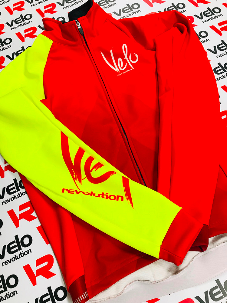 ICE Thermal Winter Jacket - RED with Bright Yellow Sleeve