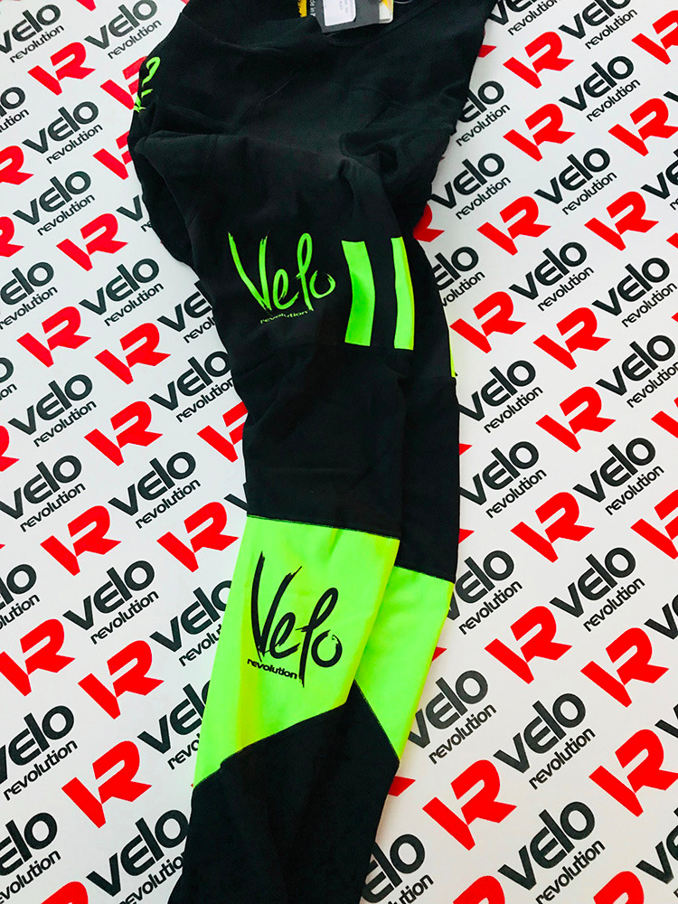 BibTights AllDay Roubaix Black with Neon Green Panels