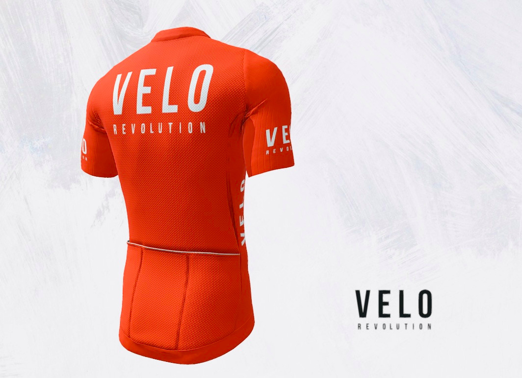 Short Sleeve Jersey PRO TIGER ORANGE with Tailored Sleeve
