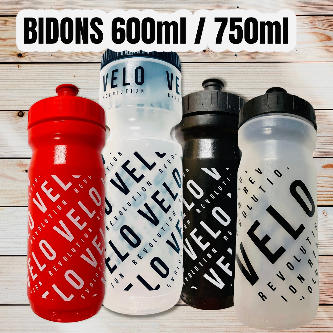Pro Team Cycling Water Bottles - CLEAR VELO 750ml